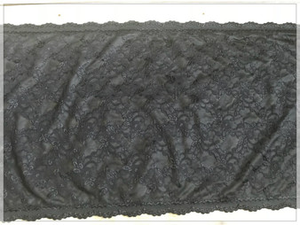 Ultra wide Black Lace Trim