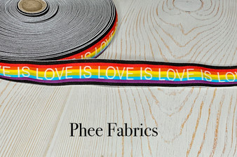 Love is Love Plush 1 3/8 Wide Elastic