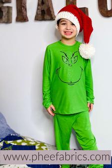 Grinch Green Rayon Spandex