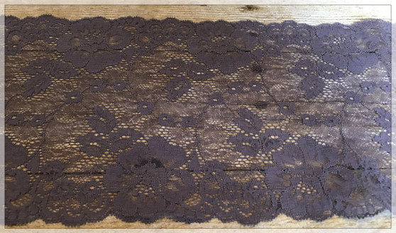 "6.75"" Taupe Stretch Lace Trim"