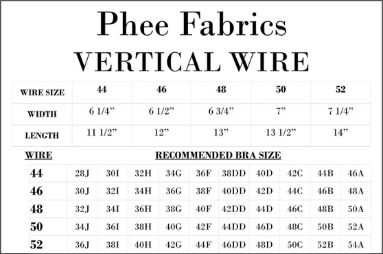 Heavy Duty Omega/Vertical Underwire