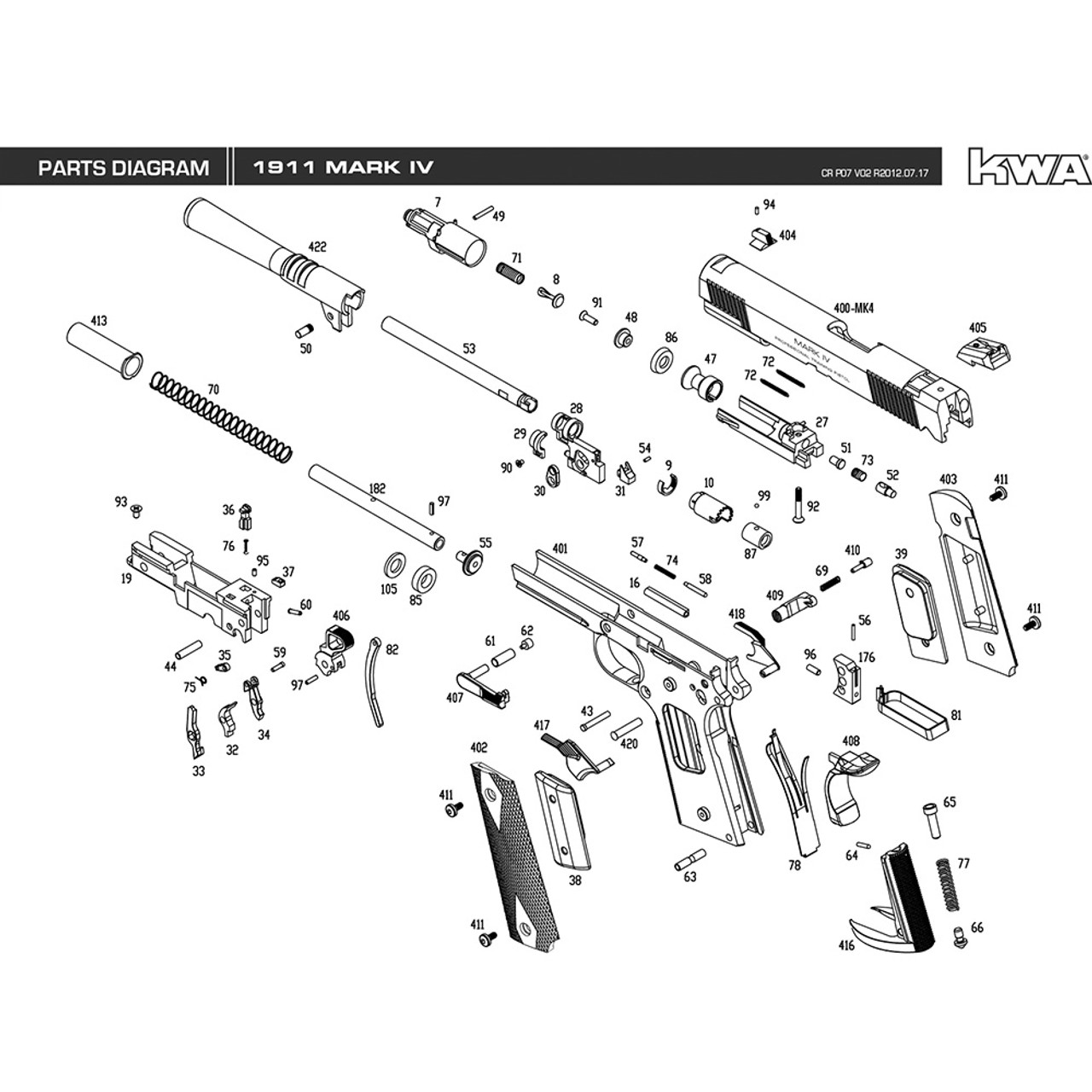 Wondrous Kwa Airsoft 1911 Mk Iv Pistol Diagram Mir Tactical Wiring Cloud Hisonuggs Outletorg