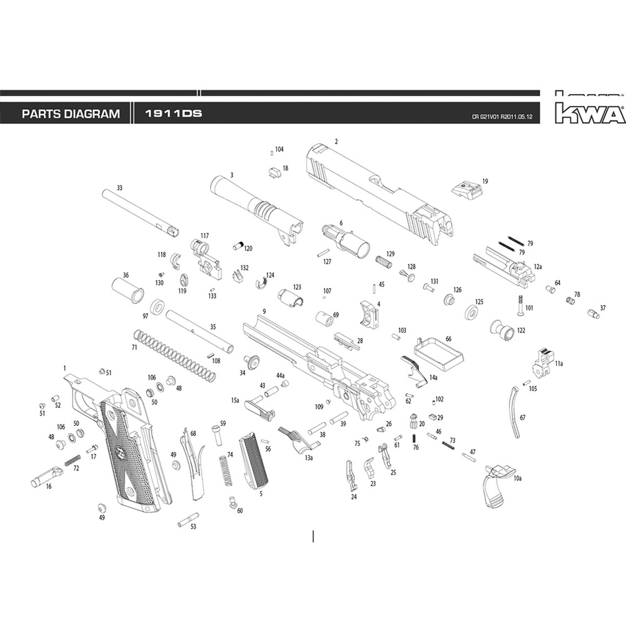 Enjoyable Kwa Airsoft 1911 Ds Pistol Diagram Mir Tactical Wiring Cloud Hisonuggs Outletorg