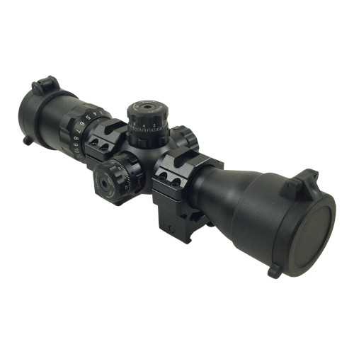 "1"" BUG BUSTER 3-12X32 SCOPE SIDE AO, MILDOT QD RINGS"