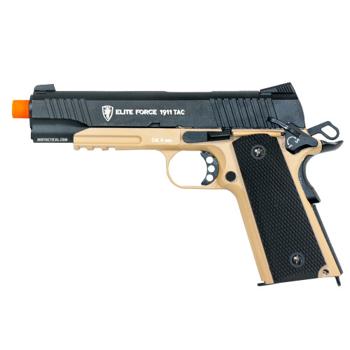 ELITE FORCE 1911 TACTICAL GEN 3 CO2 BLOWBACK AIRSOFT PISTOL - DESERT/BLACK