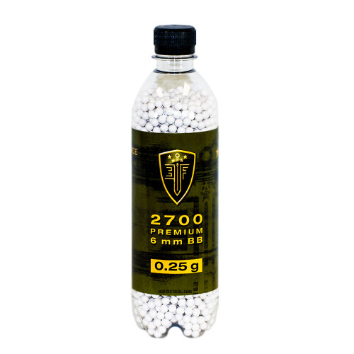 ELITE FORCE PREMIUM 0.25 GRAM AIRSOFT BBS - 2700 COUNT for $7.99 at MiR Tactical