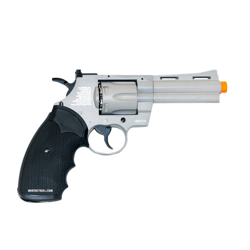 4 INCH AIRSOFT REVOLVER 6MM METAL GRAY for $109.95 at MiR Tactical