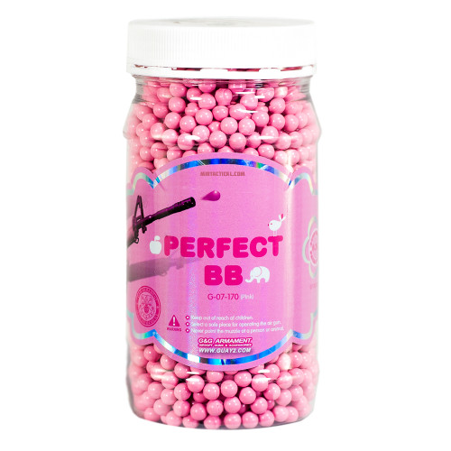 G&G PERFECT BB 0.20 GRAM PINK AIRSOFT BBS -  2400 COUNT for $9.99 at MiR Tactical