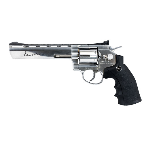 DAN WESSON 6` SILVER PELLET AIRGUN 4.5MM