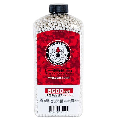 G&G 0.20 GRAM AIRSOFT BBS - 5600 COUNT for $10 at MiR Tactical