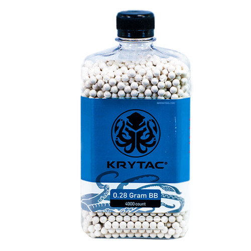 KRYTAC 0.28 GRAM AIRSOFT BBS - 4000 COUNT for $19.99 at MiR Tactical