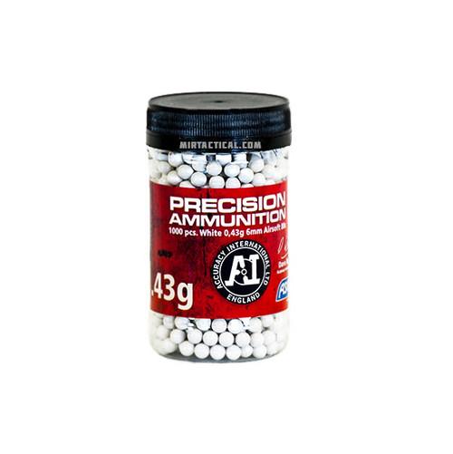0.43G 6MM AIRSOFT BBS 1000 BOTTLE WHITE for $19.99 at MiR Tactical