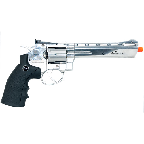 DAN WESSON 6` SILVER AIRSOFT REVOLVER CO2 for $119.99 at MiR Tactical