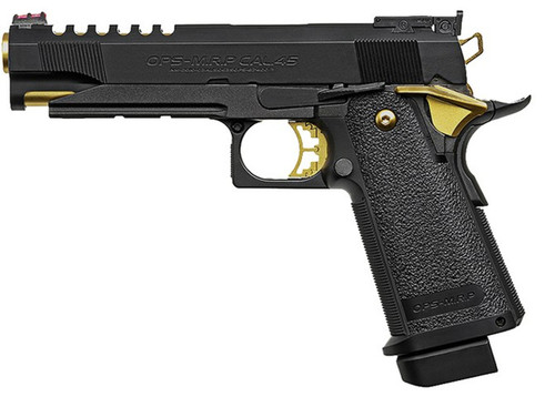 TOKYO MARUI HI-CAPA 5.1 GOLD MATCH CUSTOM GAS BLOWBACK AIRSOFT PISTOL BLACK GOLD