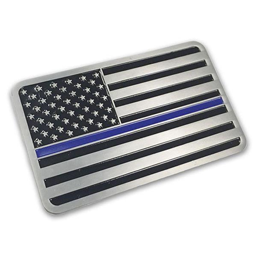 Vehicle Emblem - Thin Blue Line American Flag