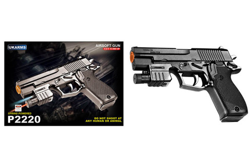 UK ARMS P2220 SPRING AIRSOFT PISTOL