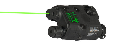 PEQ-15 BLACK W/ GREEN LASER
