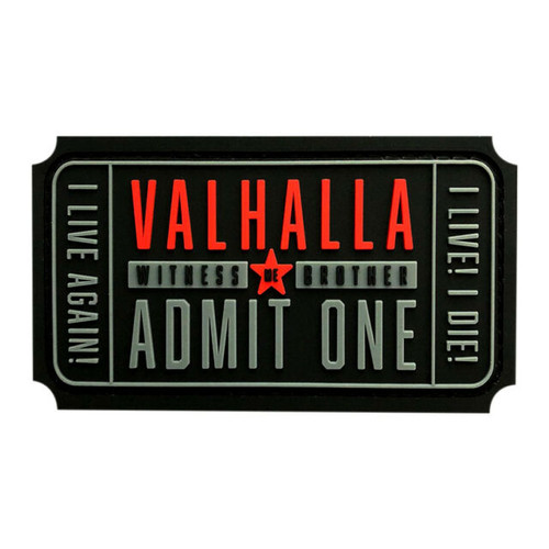 VALHALLA ADMIT ONE PATCH BLACK