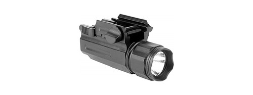 AIM SPORTS 200 LUMENS TACTICAL FLASHLIGHT W/QUICK RELEASE