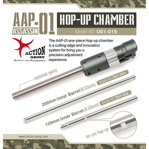 ACTION ARMY AAP-01 CNC WHEEL ADJUSTED HOPUP CHAMBER