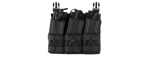 QD TRIPLE DUAL MAG POUCH FOR BUCKLE UP SYSTEM BLACK