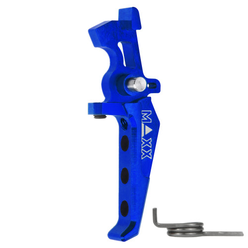 MAXX CNC ALUMINUM ADVANCED SPEED TRIGGER STYLE E - BLUE
