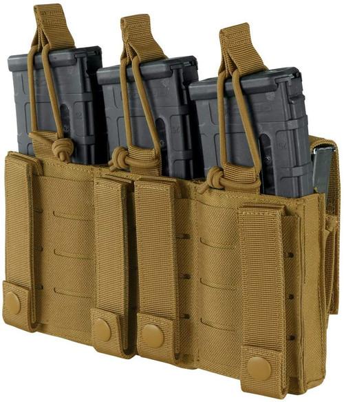 CONDOR TRIPLE KANGAROO M4 MAG POUCH GEN 2 COYOTE