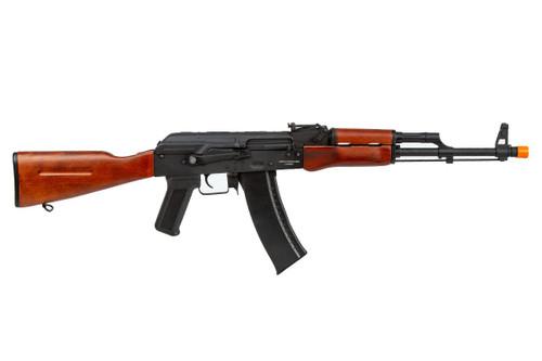 LANCER TACTICAL AK 47N REAL WOOD AIRSOFT CARBINE AEG - BLACK