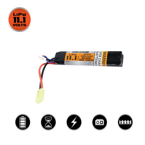 VALKEN 11.1 1450MAH 30C LIPO STICK BATTERY