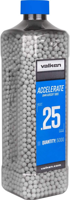VALKEN ACCELERATE PROMATCH 0.25G AIRSOFT BBS - 5000 COUNT