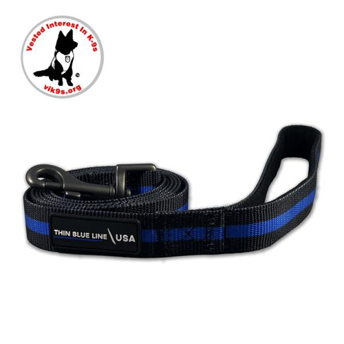 Thin Blue Line Dog Leash, Standard