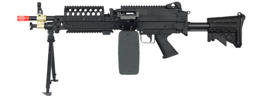 A&K M46 SAW AIRSOFT LMG AEG - BLACK