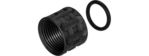 UK ARMS KNURLED THREAD PROTECTOR -14MM BLACK