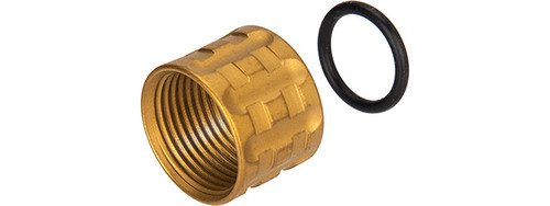 UK ARMS KNURLED THREAD PROTECTOR -14MM GOLD