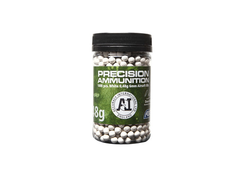 ASG 0.48G 6MM AIRSOFT BBS 1000 RD BOTTLE WHITE