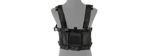 LANCER TACTICAL BLACK ADAPTIVE MULTI-PURPOSE SLIM CHEST RIG