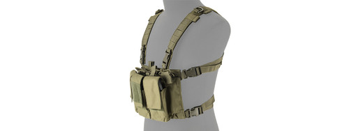 LANCER TACTICAL GREEN ADAPTIVE MULTI-PURPOSE SLIM CHEST RIG