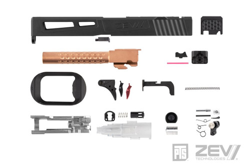 PTS ZEV PRIZEFIGHTER SLIDE KIT FOR TOKYO MARUI MODEL 17 RMR BLACK
