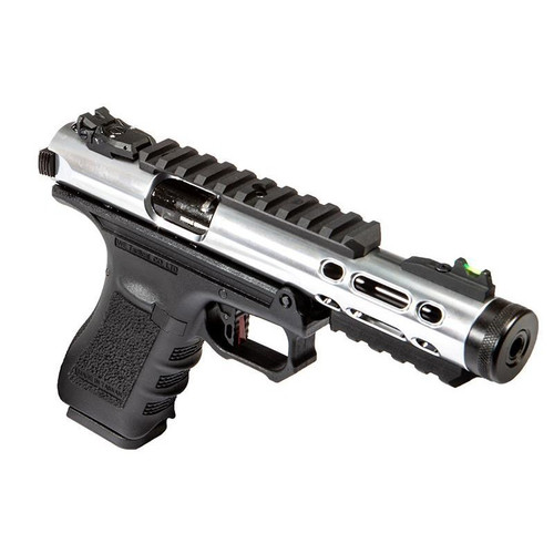 WE G SERIES GALAXY GBB AIRSOFT  PISTOL SILVER