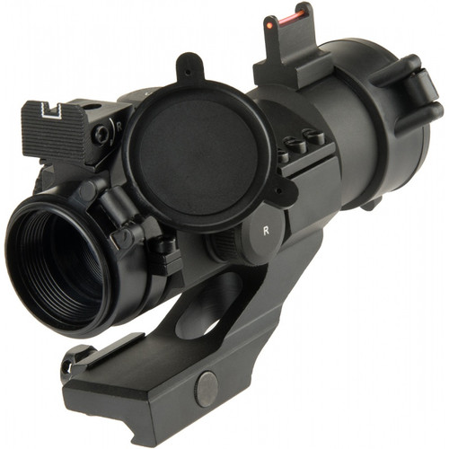 LANCER TACTICAL OUTDOOR FIBER SIGHT AND RED DOT HUNTING SCOPE BLACK