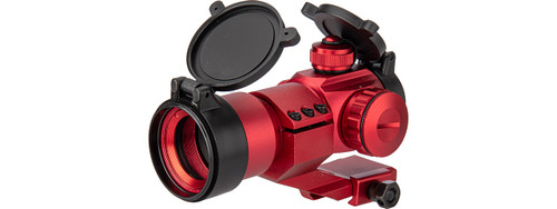 LANCER TACTICAL RED & GREEN DOT CANTILEVER PRISM SCOPE RED