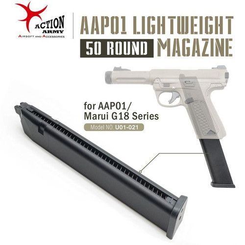 ACTION ARMY LIGHTWEIGHT 50 RDS GAS MAGAZINE FOR AAP-01 / MARUI G18C