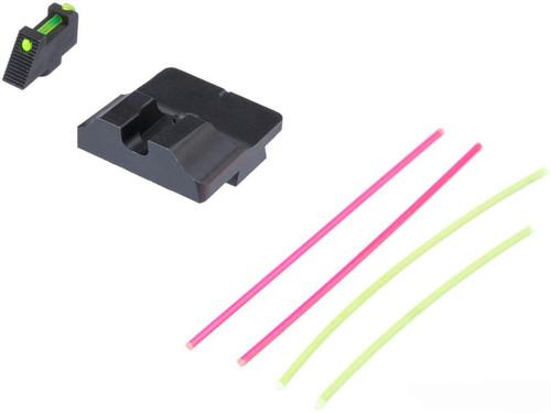 GUNS MODIFY W STYLE STEEL CNC FIBER OPTIC SIGHT SET FOR UMAREX VFC GLOCK GBB SERIES