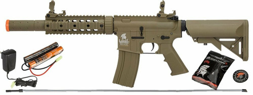 LANCER TACTICAL LT-15T-G2 AIRSOFT POLYMER M4 GEN 2 SD AEG RIFLE - TAN