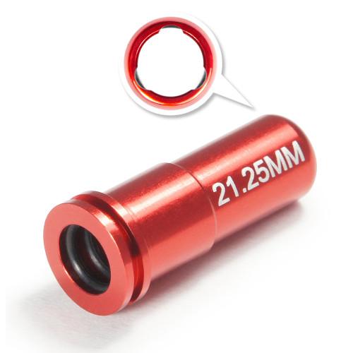 MAXX CNC ALUMINUM DOUBLE O RING AIR SEAL NOZZLE (21.25mm) FOR AIRSOFT AEG SERIES