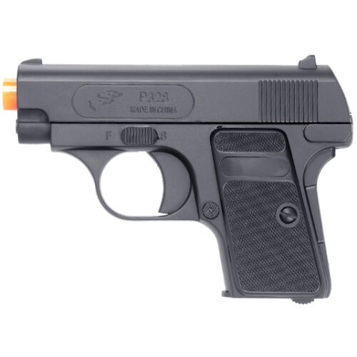 DOUBLE EAGLE P328BAG SPRING COMPACT AIRSOFT PISTOL - BLACK