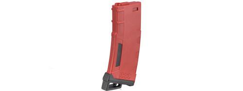 LANCER TACTICAL M4/M16 HI SPEED 130 ROUND MID CAP AIRSOFT MAGAZINE - RED