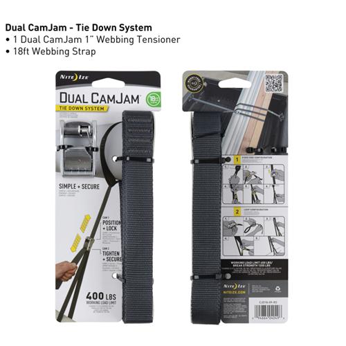 Dual CamJam Tie Down System