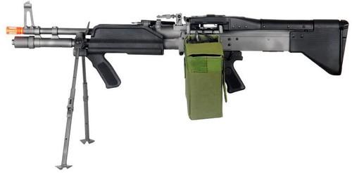 A&K MK43 FULL METAL AEG WITH BIPOD AIRSOFT RIFLE - BLACK