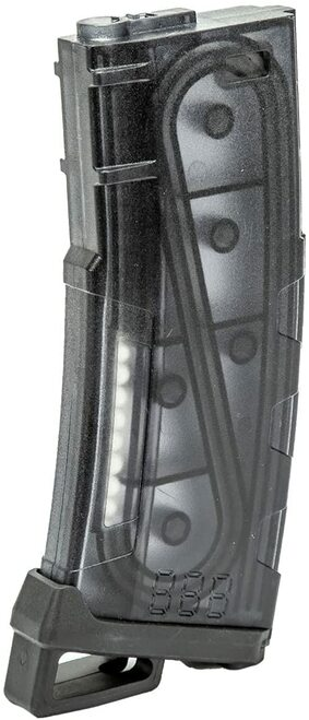 LANCER TACTICAL M4/M16 HI SPEED 130 ROUND MID CAP AIRSOFT MAGAZINE - SMOKED